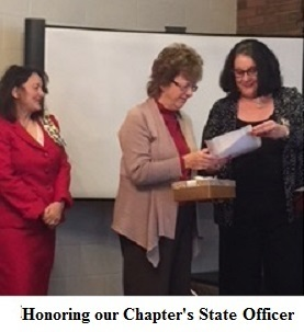 Honoring Our Chapter's State Officer